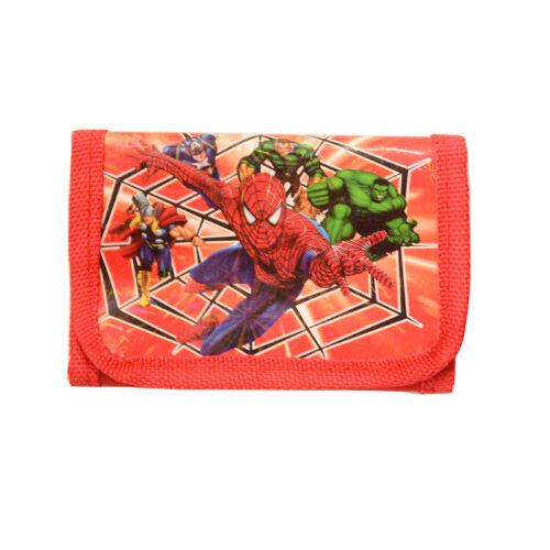 LOL Spiderman Pokemon  Minions Boys Wallet Trifold Zip Kids Cartoon Coin Purse