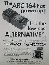 9/1977 PUB MAGNAVOX ARC-164 AWACS AFSATCOM TELECOMMUNICATIONS EW ORIGINAL AD