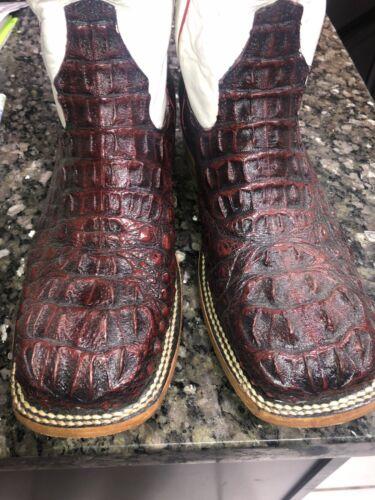 Alligator Cowboy Boots Size 8.5 D Custom Black Che