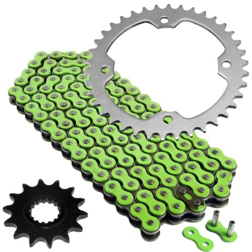 Green Drive Chain and Sprockets Kit Fits YAMAHA YFZ450R YFZ450X 2009-2018