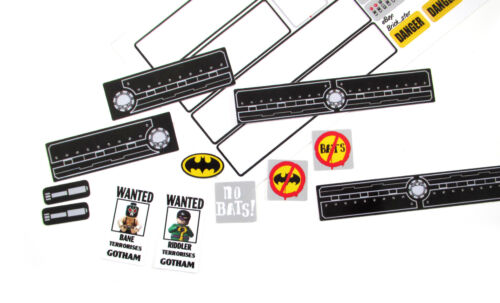 CUSTOM STICKERS for Lego 7787 The Bat Tank The Riddler and Bane Etc TOY BUILDS