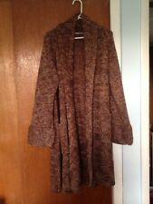 Soft Surroundings Colorful Wool Blend Sweater Coat Jacket Size XL Brown