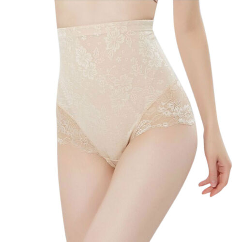 Womens High Waist Tummy Control Panties Triangle Seamless Body Shaper Underwear
