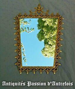Actif M20110817 - Superbe Miroir Avec Cadre En Métal Doré - Très Bon état Gagner Une Grande Admiration Et On Fait Largement Confiance à La Maison Et à L'éTranger.
