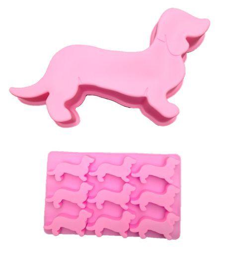 Pink Dachshund Doxie Sausage Dog Weiner Dog Ice Cube Chocolate Tray BN
