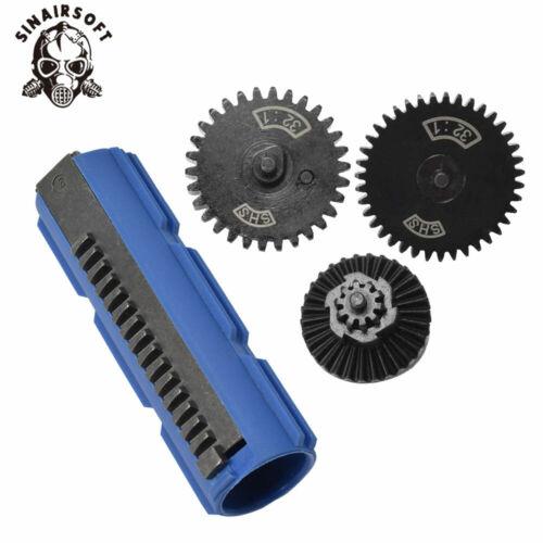32:1 Gear Set for Airsoft AEG Ver 2//3 Gearbox SHS 15 Teeth Half Teeth Piston