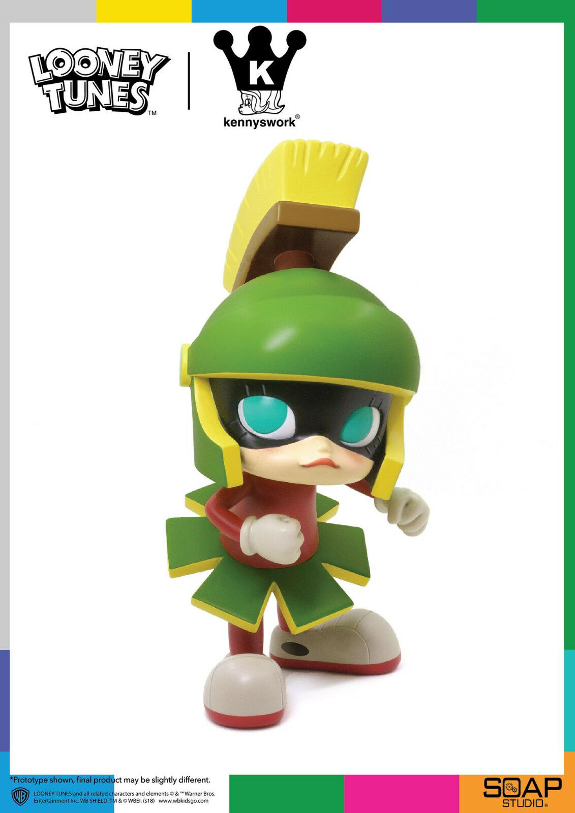 Looney Tunes Get Animated x Kennyswork Marvin The Martian Molly Molly Molly Vinyl Figure 278818