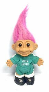 Vintage-Russ-Troll-Doll-Super-Kicker-Soccer-Player-5-034-Pink-Hair-18411