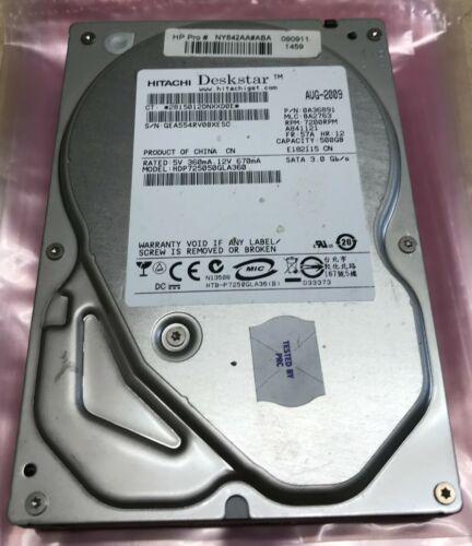 """Hitachi 500GB SATA Internal Hard Drive 3.5/"""" HDP725050GLA360 Tested"""