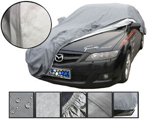 Heavy-2KG-Waterproof-Medium-M-2-Layer-Full-Car-Cover-Breathable-Protect-Outdoor