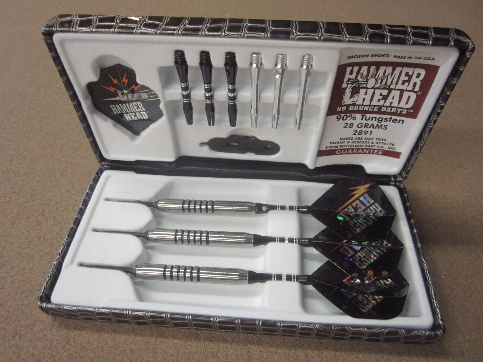 Hammer Head Smooth 28g Steel Steel 28g Tip Darts 90% Tungsten 2891 w/ FREE Shipping 00d189