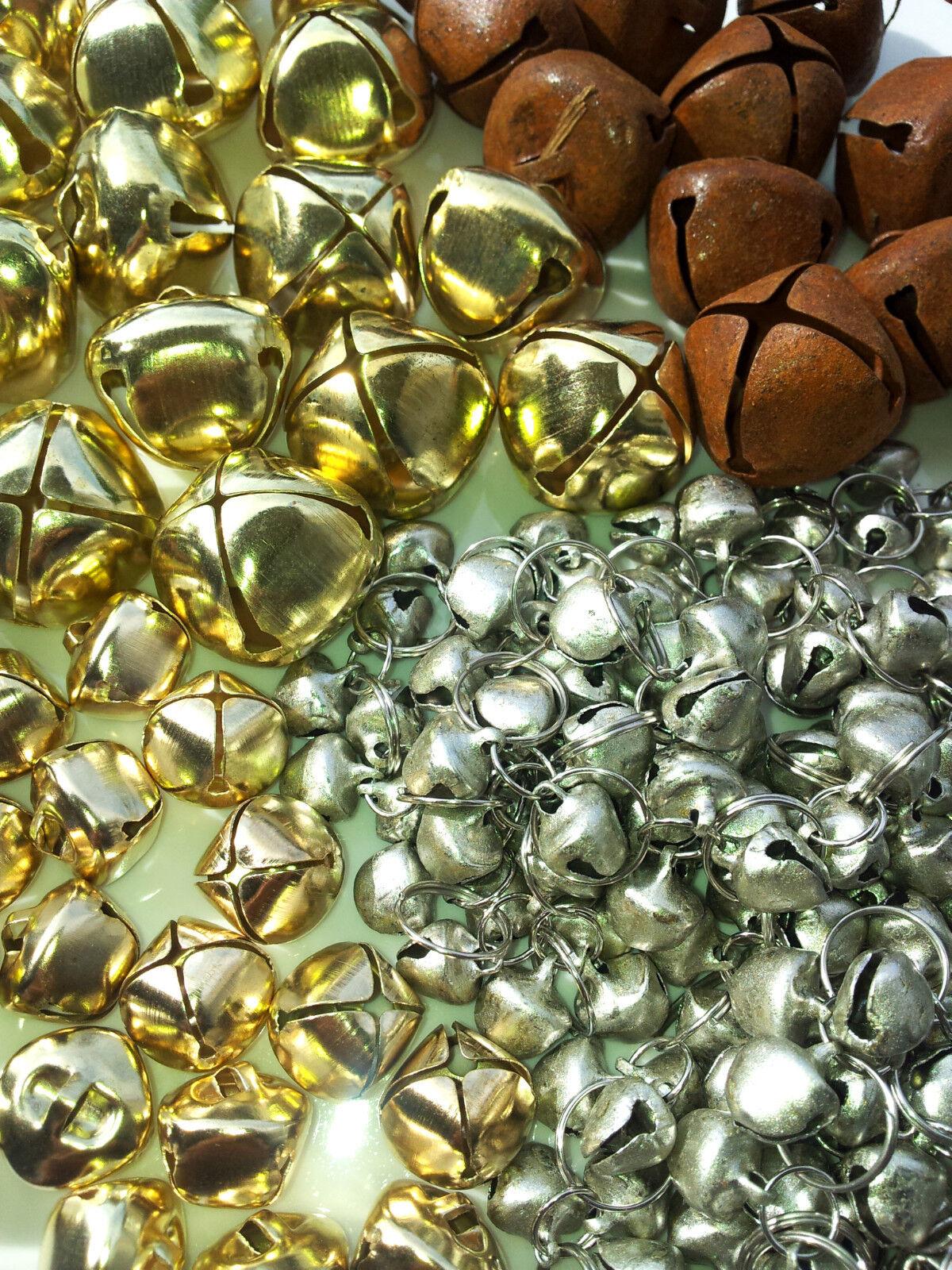750 Glöckchen Silber 6//8//10mm Glocken Schellen mit Öse Mix Mini-Glocke BEST