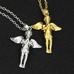 Little-Angel-Pendant-Wing-Necklace-Hiphop-Men-Necklace-Creative-Fashion-Jewelry