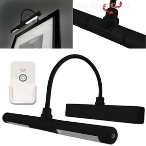 Wireless Led Picture Light Photograph Painting Battery Lamp Black