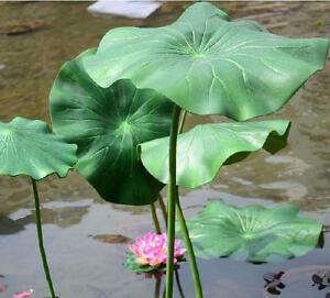 517cm Artificial Lotus Leaf Stem Faux Flowers Silk Lotus Water Lily