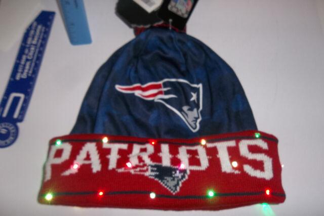 New England Patriots NAME NFL LED Light Up Hat Winter Pom Beanie Knit Cap  da5a8f129