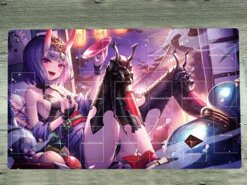 Yugioh Playmat Fate//Grand Order TCG CCG Mat Shuten Douj Trading Card Game Mat