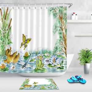 Solar System Planets Fabric Shower Curtain Set 180Cm Bathroom Curtains Hook Mat