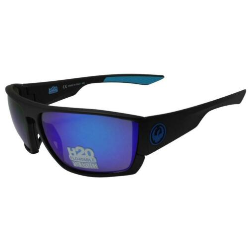 Dragon Cutback H2O Sunglasses Matte Black Polarized Blue Ion Lens 35143007