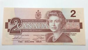 1986-Canada-Uncirculated-2-Two-Dollar-BBB-Prefix-Canadian-Banknote-C879