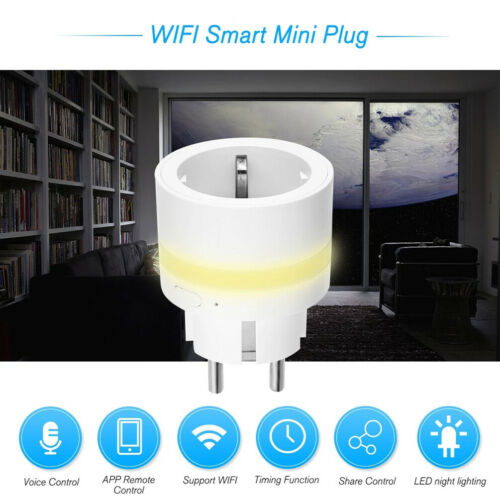 WLAN Smart Steckdose Intelligente Plug Zuhause Wi-Fi Stecker Amazon Alexa Google