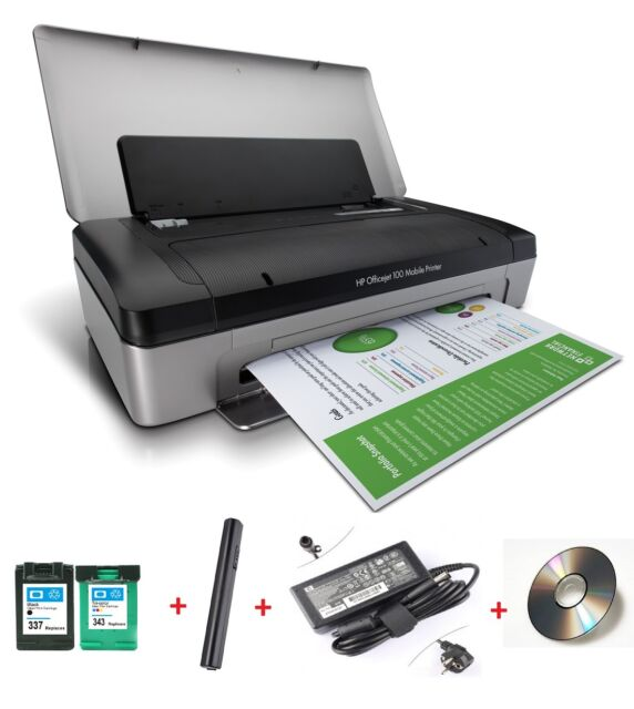 HP OfficeJet 100 Mobile Bluetooth Notebook Drucker für Unterwegs Win10  L411A