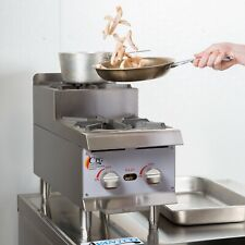 12 Natural Gas Step Up Countertop Range Hot Plate With 2 High Output Burners