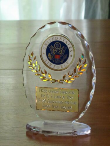 "United States Air Force 6 1//2/"" Acrylic Award Trophy FREE engraving"