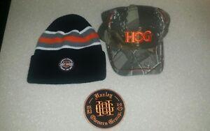 Harley-Davidson-HOG-BEANIE-BALL-CAP-PATCH-3-PIECES-NEW-NICE-NWT
