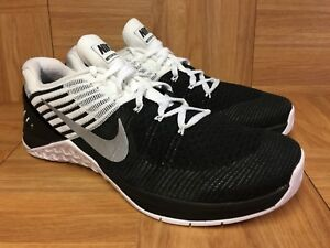 RARE🔥 Nike Metcon DSX Flyknit Crossfit Training Sz 10 Black White 852930-005