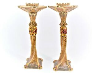 Decorative Candle Holder Pair By Ciel