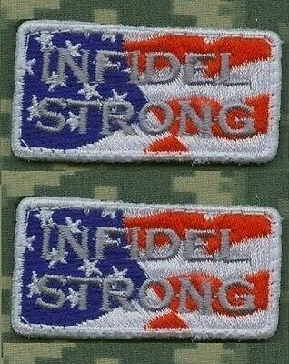 """Infidel Strong Us Flag Elite Seal Blk Sp Ops Operator Veicrọ 2-tab 1"""" X 2"""""""