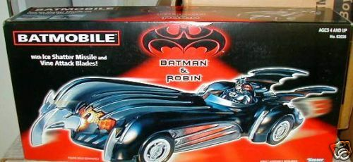 BATMAN and ROBIN BATMOBILE BATMOBILE BATMOBILE VEHICLE SEALED Kenner MIB BOX SHARP - PACKED WELL 17a