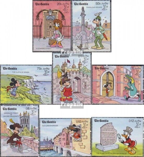 kompl.ausg. Gambia 2714-2722 Postfrisch 1997 Walt-disney-figur Minnie Maus