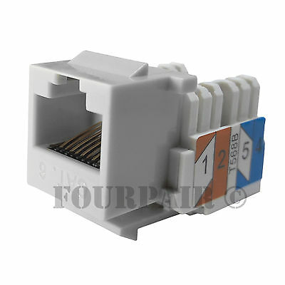 20x Pack Lot CAT6 Network RJ45 Port 110 Punch Down Keystone Snap-In Jack Ivory