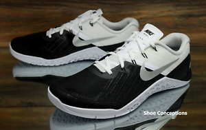 Nike metcon formazione 3 bianco nero argento 852928-005 formazione metcon scarpe uomo 8,5 c04131
