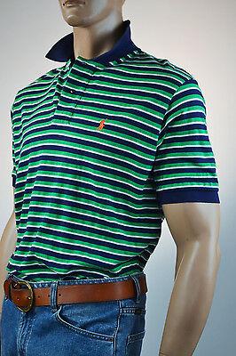 Ralph Lauren Classic Fit Green & Black Stripe Short Sleeve Mesh Polo Shirt-NWT