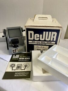 DeJur Model 300 Dual 8mm Movie Editor ~ Top Condition Complete in Box ~ Japan