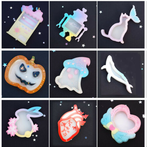 Crystal Key Chain UV Epoxy Jewelry Making Tools Silicone Mold Resin Mould