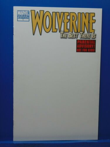 The Woverine the Best There Is #1 Blank  Variant Edition  Marvel Comics CB9934