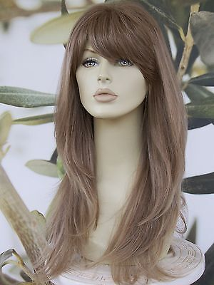 FULL WOMENS LADIES FASHION HAIR WIG LONG LIGHT BROWN/BLONDE MIX HEAT RESIST UK