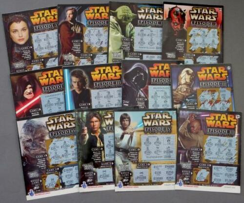 Star Wars Full Set of 12 UK National Lottery Scratchcards Darth Vader Luke R2D2