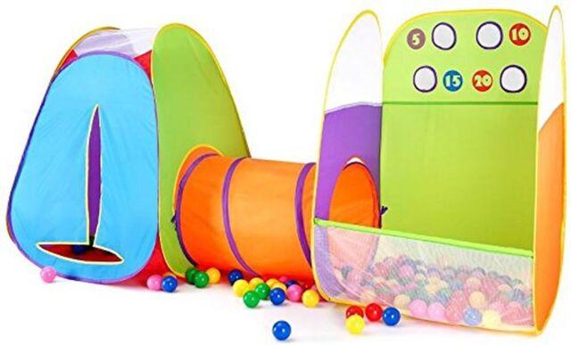 Kids Fun Toss It Game Zone 3 in 1 Pop Play Tents Indoor Outdoor Great Toy  Gift F