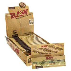 Raw-1-1-4-1-25-Classic-Unrefined-Premium-Cigarette-Rolling-Papers-32-Leaves