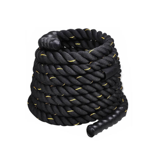 "1.5"" 30FT Poly Dacron Battle Rope Exercise Workout Strength Training Undulation"