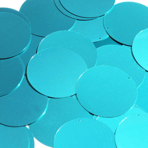 l Blue Green Sequin Round 1.5 inch Metallic Large Couture Paillettes