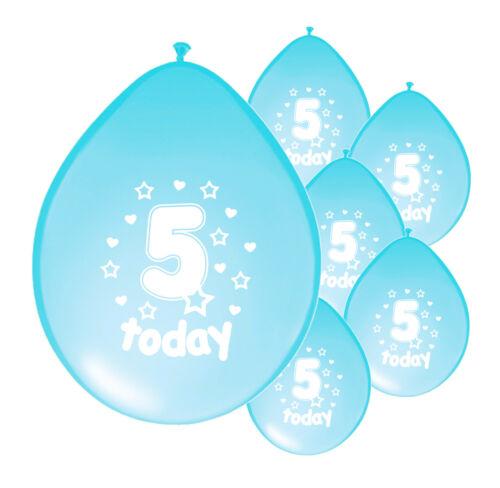 "PA 20 X 5th BIRTHDAY BOY BALLOONS /""5 TODAY/"" BIRTHDAY BALLOONS LIGHT BLUE"