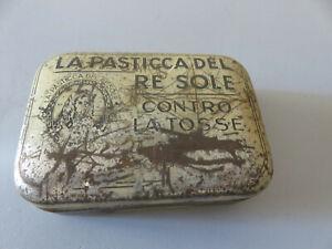 Confection Bonbons Plaquettes Re Soleil Contre Le Toux Vintage Usagé Vide Étain
