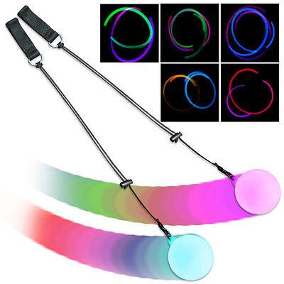 Firetoys Slow Fade Multi-Coloured LED Glow Poi - Light Up Poi - UK!