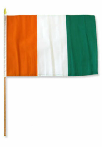"12x18 12/""x18/""  Cote D/'Ivoire Ivory Coast Stick Flag wood staff"